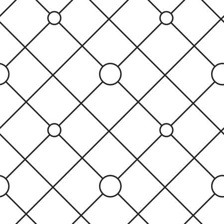 grid: Circles grid texture. Stripped geometric seamless pattern.
