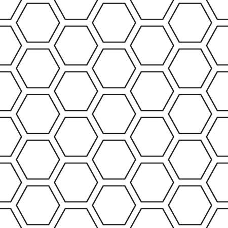 Hex lines grid texture. Stripped geometric seamless pattern.