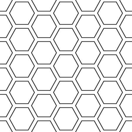 Hex lines grid texture. Stripped geometric seamless pattern. Vettoriali