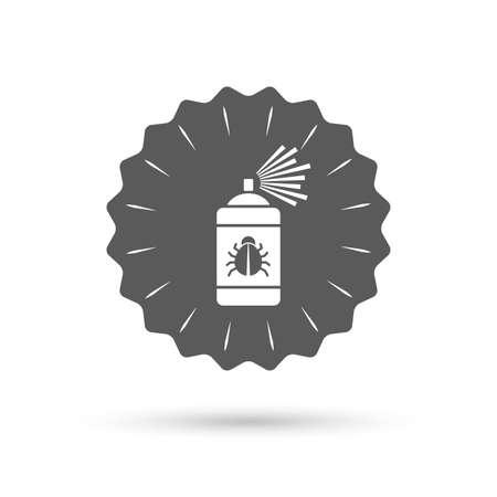 acarus: Vintage emblem medal. Bug disinfection sign icon. Illustration