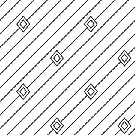 texturing: Diagonal lines with rhombus texture. Stripped geometric seamless pattern.