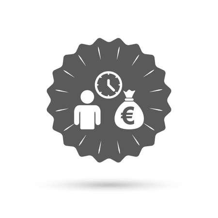 fast money: Vintage emblem medal. Get money fast symbol