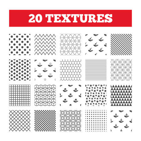 patent key: Seamless patterns. Endless textures. Helping hands icons.
