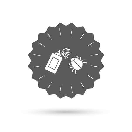disinfection: Vintage emblem medal. Bug disinfection sign icon. Illustration