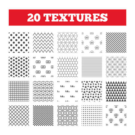 house for sale: Seamless patterns. Endless textures. For sale icons. Real estate selling signs. Home house symbol. Geometric tiles, rhombus. Vector