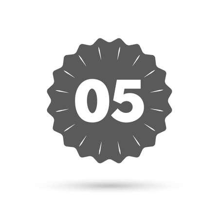 fifth: Vintage emblem medal. Fifth step sign. Loading process symbol. Step five. Classic flat icon. Vector Illustration