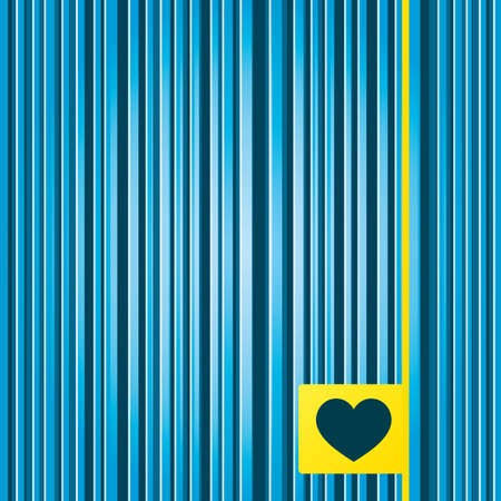 hintergrund liebe: Lines blue background. Love icon. Heart sign symbol. Yellow tag label. Vector