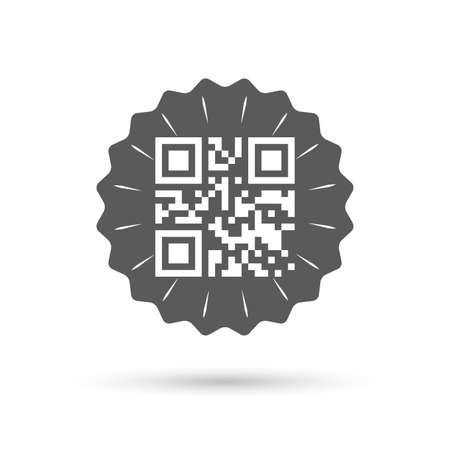 coded: Vintage emblem medal. Qr code sign icon. Scan code symbol. Coded word - success! Classic flat icon. Vector
