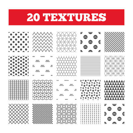 most popular: Seamless patterns. Endless textures. Most popular star icon. Most viewed symbols. Clients or customers choice signs. Geometric tiles, rhombus. Vector Illustration