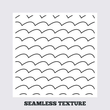ocean wave: Seamless texture. Waves lines texture. Stripped geometric seamless pattern. Modern repeating stylish texture. Flat pattern on white background. Vector