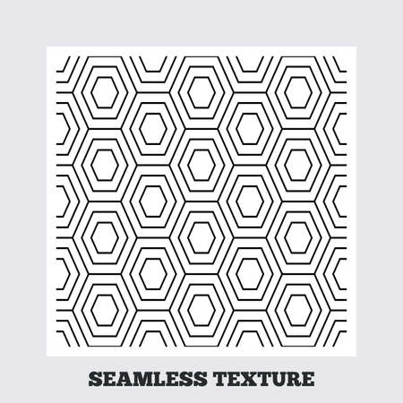 lattice frame: Seamless texture. Hex lines grid texture. Stripped geometric seamless pattern. Modern repeating stylish texture. Flat pattern on white background. Vector