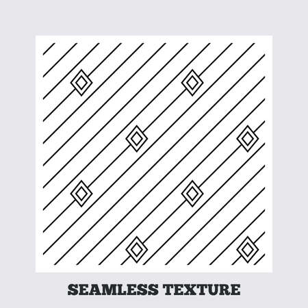 texturing: Seamless texture. Diagonal lines with rhombus texture. Stripped geometric seamless pattern. Modern repeating stylish texture. Flat pattern on white background. Vector