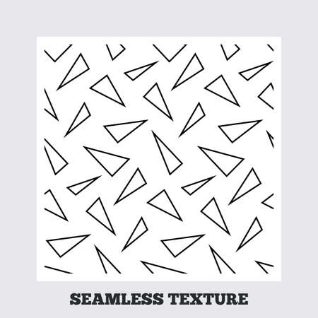 texturing: Seamless texture. Triangles lines texture. Stripped geometric seamless pattern. Modern repeating stylish texture. Flat pattern on white background. Vector Illustration