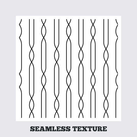 texturing: Seamless texture. Lines with ellipse texture. Stripped geometric seamless pattern. Modern repeating stylish texture. Flat pattern on white background. Vector Illustration