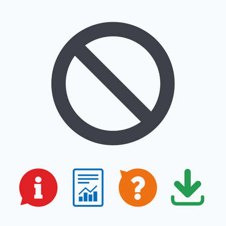 blacklist: Blacklist sign icon. User not allowed symbol. Information think bubble, question mark, download and report.