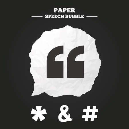 Zitat Sternchen Fußnote Symbole Hashtag Social Media Und