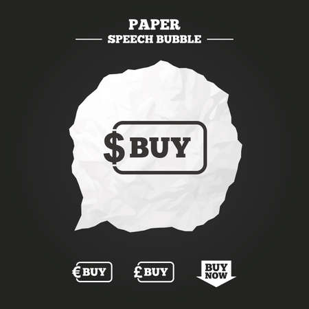 Buy Now Arrow Icon Online Shopping Signs Dollar Euro And Pound