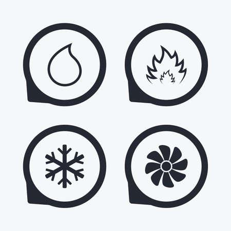 HVAC-Symbole. Heizung, Lüftung Und Klimaanlage Symbole ...