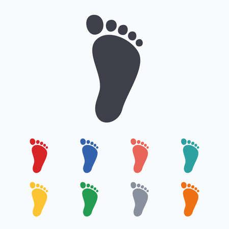 Kinder Paar Fußabdruck Zeichen-Symbol. Kleinkind Barfuß Symbol ...