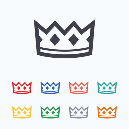Crown sign icon. King hat symbol. Colored flat icons on white background. Stock Vector - 51804249