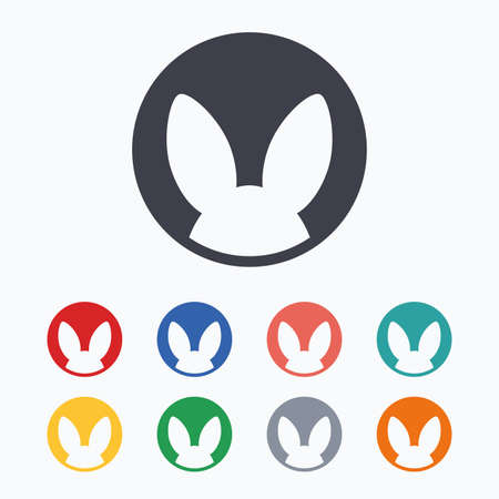 tested: No animals testing sign icon. Not tested symbol. Colored flat icons on white background.