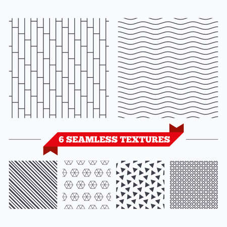 texturing: Diagonal lines, waves and geometry design. Cobbles grid texture. Stripped geometric seamless pattern. Modern repeating stylish texture. Material patterns.