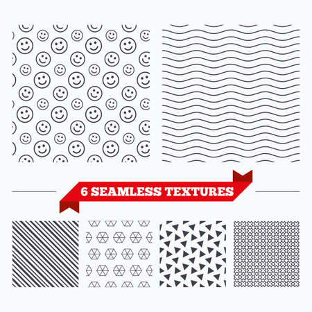 texturing: Diagonal lines, waves and geometry design. Smile lines texture. Stripped geometric seamless pattern. Modern repeating stylish texture. Material patterns.