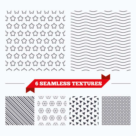 texturing: Diagonal lines, waves and geometry design. Stars lines texture. Stripped geometric seamless pattern. Modern repeating stylish texture. Material patterns.