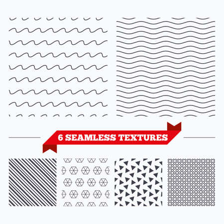texturing: Diagonal lines, waves and geometry design. Waves lines texture. Stripped geometric seamless pattern. Modern repeating stylish texture. Material patterns. Illustration