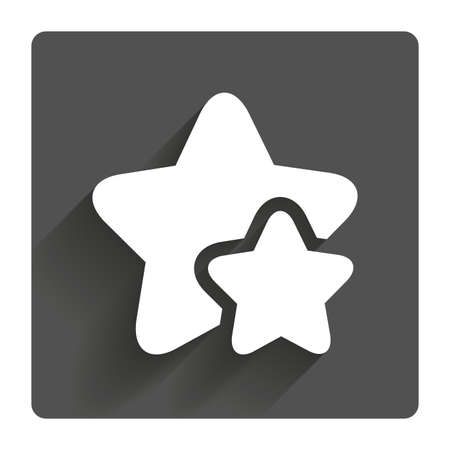 rated: Star icon. Favorite sign. Best rated symbol. Gray flat square button with shadow. Modern UI website navigation.