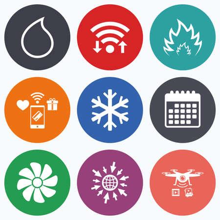 HVAC-Icons. Heizungs-, Lüftungs- Und Klimaanlagen Symbole ...