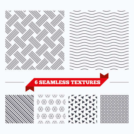 braided: Diagonal lines, waves and geometry design. Braided grid texture. Stripped geometric seamless pattern. Modern repeating stylish texture. Material patterns.