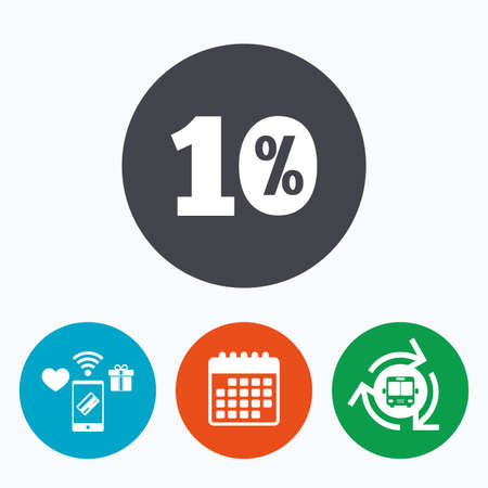 ten best: 10 percent discount sign icon. Sale symbol. Special offer label. Mobile payments, calendar and wifi icons. Bus shuttle.