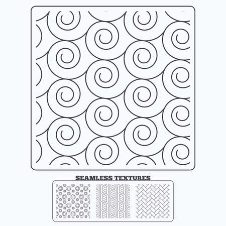 paving stone: Geometry material design textures. Flower, paving stone and floral ornate seamless textures. Linear geometric ornament pattern. Modern textures. Seamless patterns.