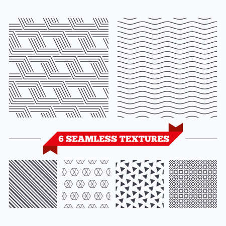 texturing: Diagonal lines, waves and geometry design. Geometrical lines texture. Stripped geometric seamless pattern. Modern repeating stylish texture. Material patterns. Illustration