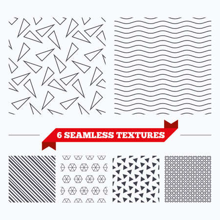 texturing: Diagonal lines, waves and geometry design. Triangles lines texture. Stripped geometric seamless pattern. Modern repeating stylish texture. Material patterns. Illustration