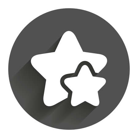 best rated: Star icon. Favorite sign. Best rated symbol. Circle flat button with shadow. Modern UI website navigation. Illustration