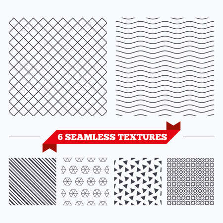 texturing: Diagonal lines, waves and geometry design. Rhombus lines texture. Stripped geometric seamless pattern. Modern repeating stylish texture. Material patterns. Illustration