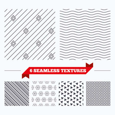 texturing: Diagonal lines, waves and geometry design. Diagonal lines with rhombus texture. Stripped geometric seamless pattern. Modern repeating stylish texture. Material patterns.