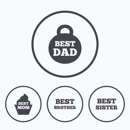 Best Mom And Dad Brother And Sister Icons Weight And Cupcake