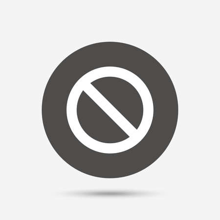 allowed: Blacklist sign icon. User not allowed symbol. Gray circle button with icon. Vector Illustration