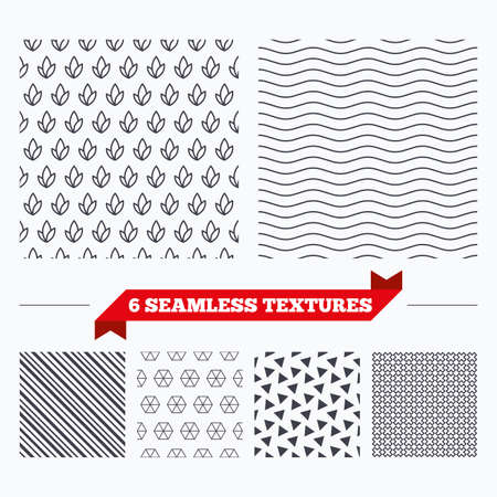 texturing: Diagonal lines, waves and geometry design. Leaves lines texture. Stripped geometric seamless pattern. Modern repeating stylish texture. Material patterns. Illustration