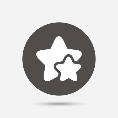 best rated: Star icon. Favorite sign. Best rated symbol. Gray circle button with icon. Vector