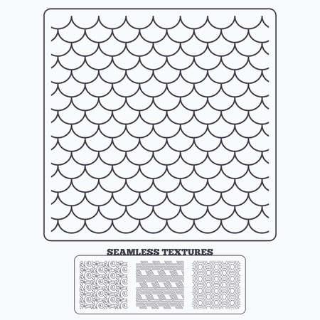 Texturas de diseño de material de geometría. Ornamento floral, tejas y texturas sin fisuras hex. Patrones geométricos lineales. Texturas modernas. Patrones sin fisuras. Ilustración de vector