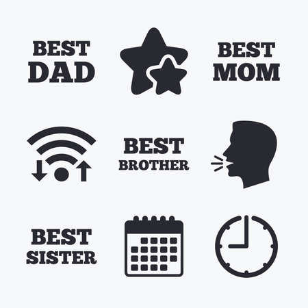 Best Mom And Dad Brother And Sister Icons Award Symbols Wifi