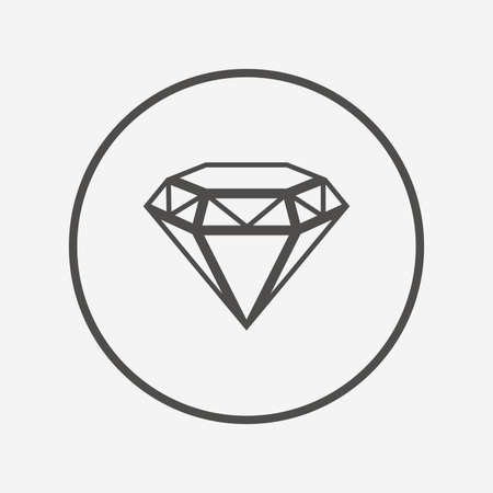 round brilliant: Diamond sign icon. Jewelry symbol. Gem stone. Flat brilliant icon. Simple design brilliant symbol. Brilliant graphic element. Round button with flat brilliant icon. Vector