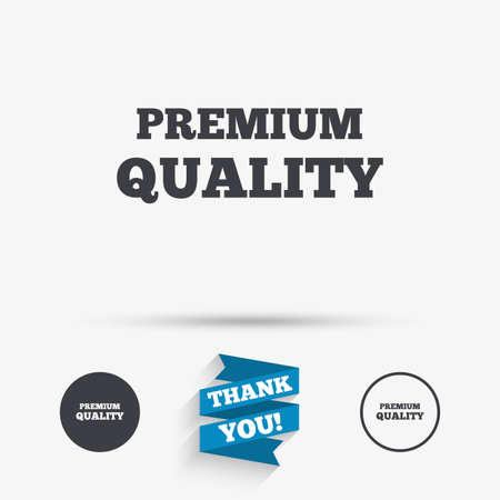 you are special: Premium quality sign icon. Special offer symbol. Flat icons. Buttons with icons. Thank you ribbon. Vector Illustration