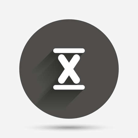 numeral: Roman numeral ten sign icon. Roman number ten symbol. Circle flat button with shadow. Vector