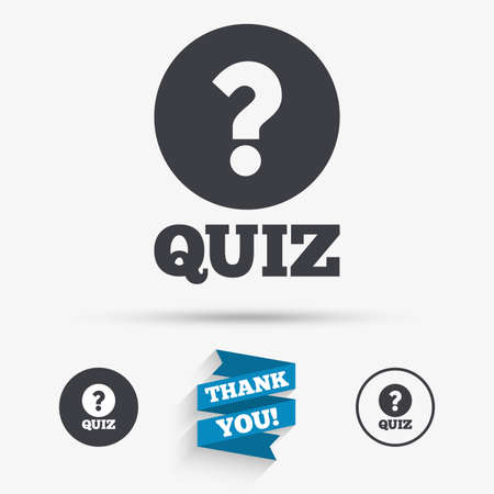 Quiz With Check Sign Icon Questions And Answers Game Symbol