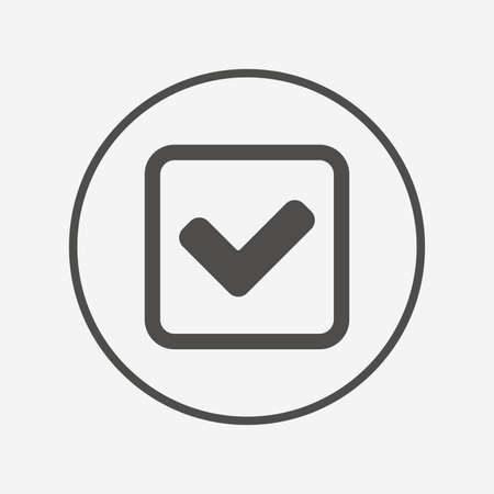 Check Mark Sign Icon Yes Square Symbol Flat Check Icon Simple